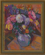 Richard Ian Bentham Walker (1925-2009) - Framed Oil, Still Life with Flowers