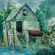 Josephine Webster - Framed 20th Century Oil, Study of a Barn, Llwynbarried