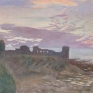 George Murray (1875-1933) - Early 20th Century Watercolour, Coastal Ruins