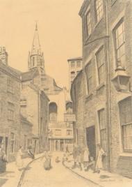 John Shelton (1923-1993) - 20th Century Graphite Drawing, Popham Street