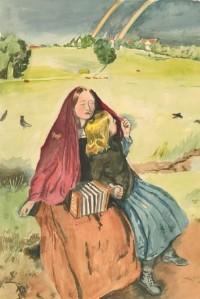 John Armstrong - 20th Century Watercolour, After John Millais, Blind Girl