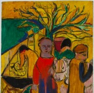 Barbara Dorf - Mid 20th Century Oil, The Tree of Life