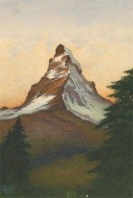 Herbert C. Ahier - 1970 Watercolour, Matterhorn from Zermatt