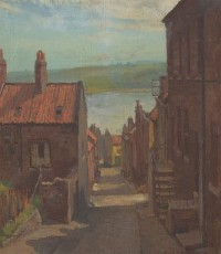 George Hamilton Constantine (1878-1967) - Signed Oil, Coastal Street Scene