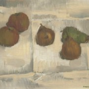 Peter Barton - Signed 1966 Oil, Still Life with Fruit