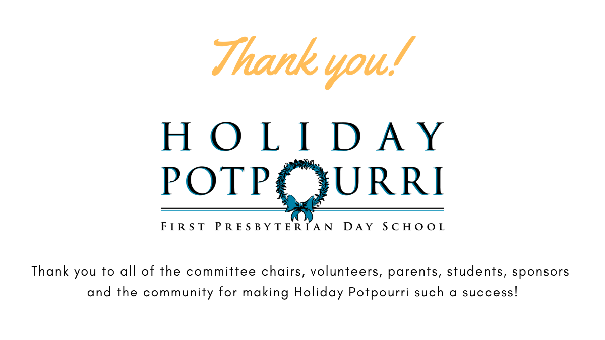 Thank you from Holiday Potpourri!