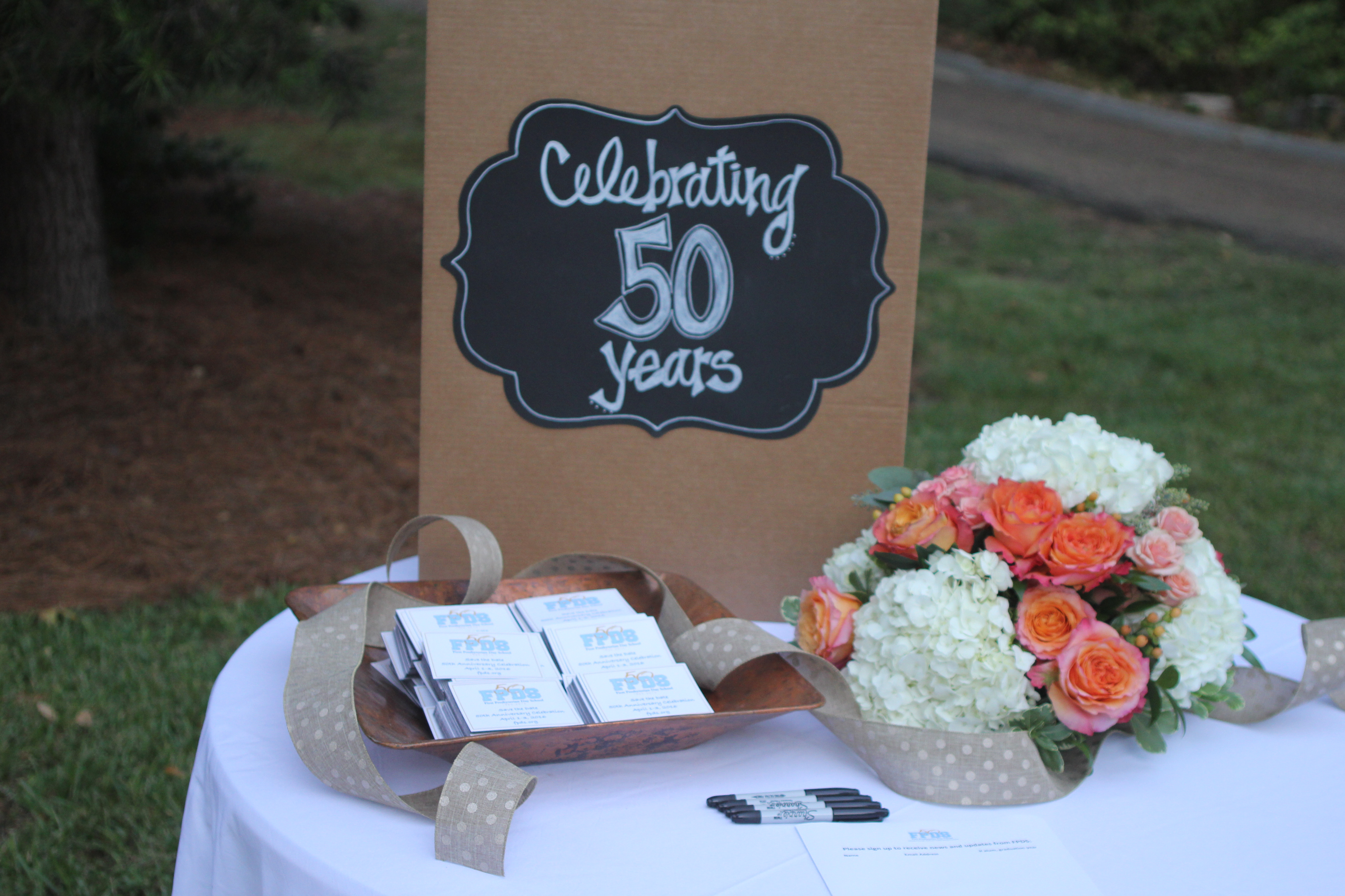 Holiday Potpourri 50 years table
