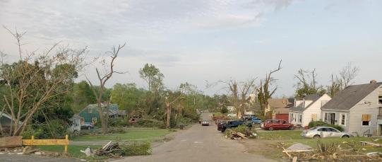 Dayton tornado damage, 5/3/19, photo by Larry Arnold