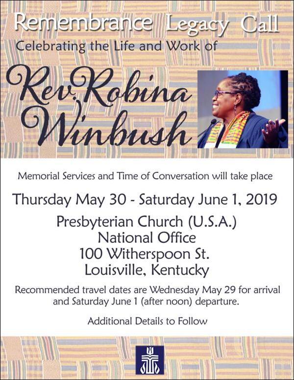 Robina Winbush Memorial Celebration