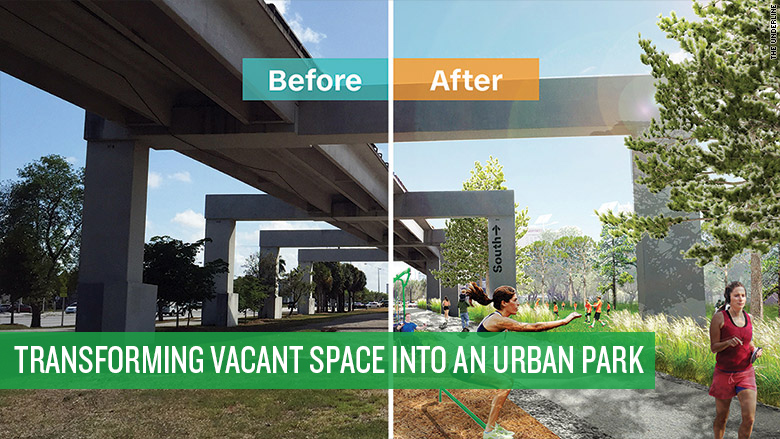 Transforming vacant space into an urban park