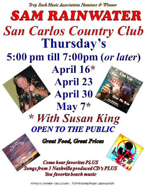 Sam Rainwater & Susan King: April & May