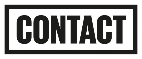 Contact logo, black text on a white background