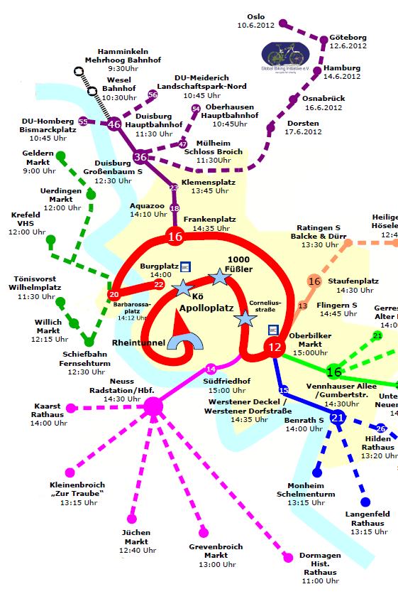 Karte: Sternfahrt