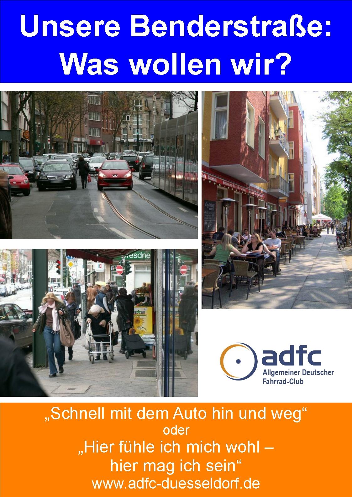 ADFC Plakat zur Benderstraße