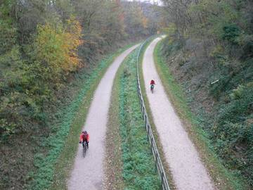 Bild: Gabelung Kohlenbahntrasse