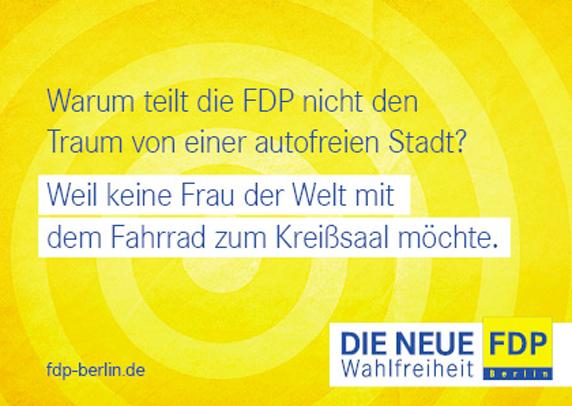 Bild: Wahlkampfplakat FDP Berlin