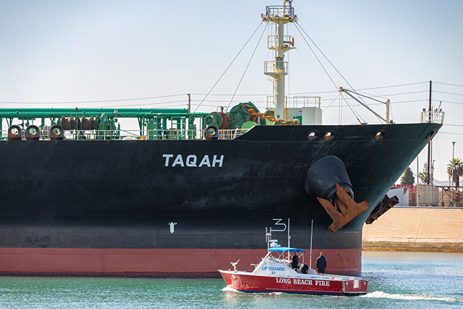 Andeavor TAQAH arrives at the Port of Long Beach