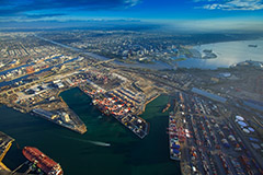 Cargo at the Port of Long Beach