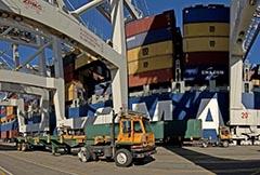 Cargo-Handling Equipment at Pier J