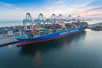 COSCO Shipping Himalayas at Pier J