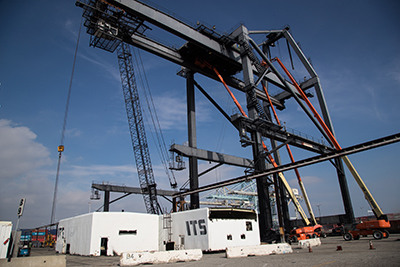ITS cranes being dismantled
