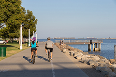 Beachfront bike and pedestrian path - Tidelands Fund project