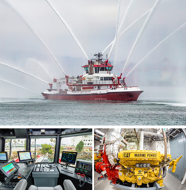 Fireboat Protector at the Port of Long Beach
