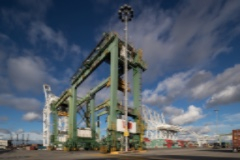 Rubber-tired gantry crane at Port of Long Beach