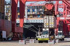 Cargo-handling equipment at TTI