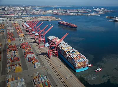 Maersk ship at TTI - Pier T