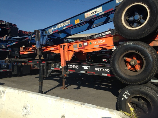 Chassis at Port of Long Beach