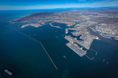 Aerial photo of Port of Long Beach