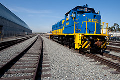 Rail at Pier G