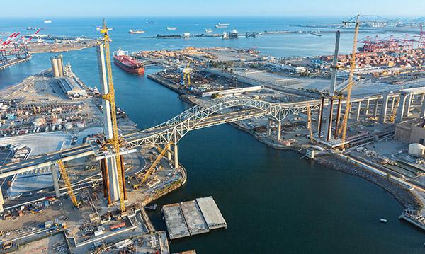 Gerald Desmond Bridge Replacement Project aerial