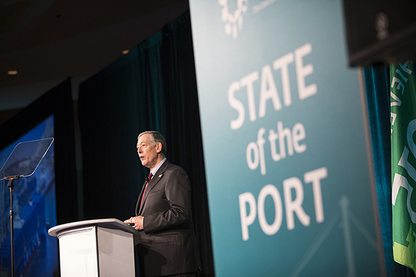 Interim Chief Executive Duane Kenagy at the State of the Port