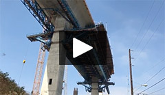 Moveable Scaffolding System on Gerald Desmond Bridge Replacement Project