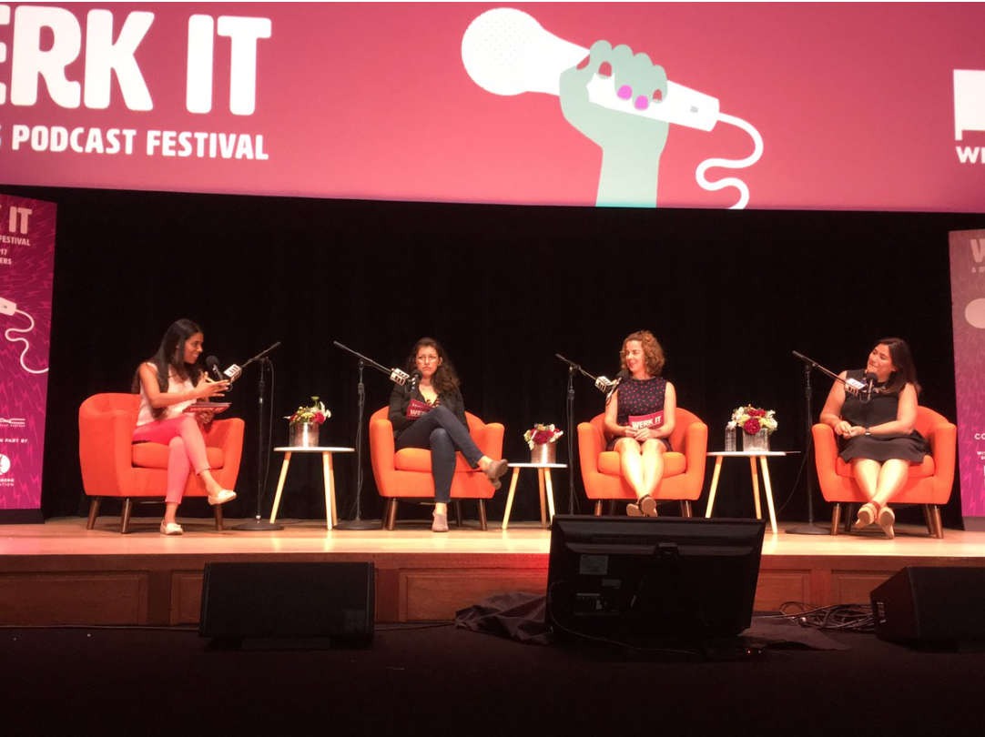 Sarah González, Rebecca Lehrer, Christina Rentz y Ashley Alvarado (How to find your audience)