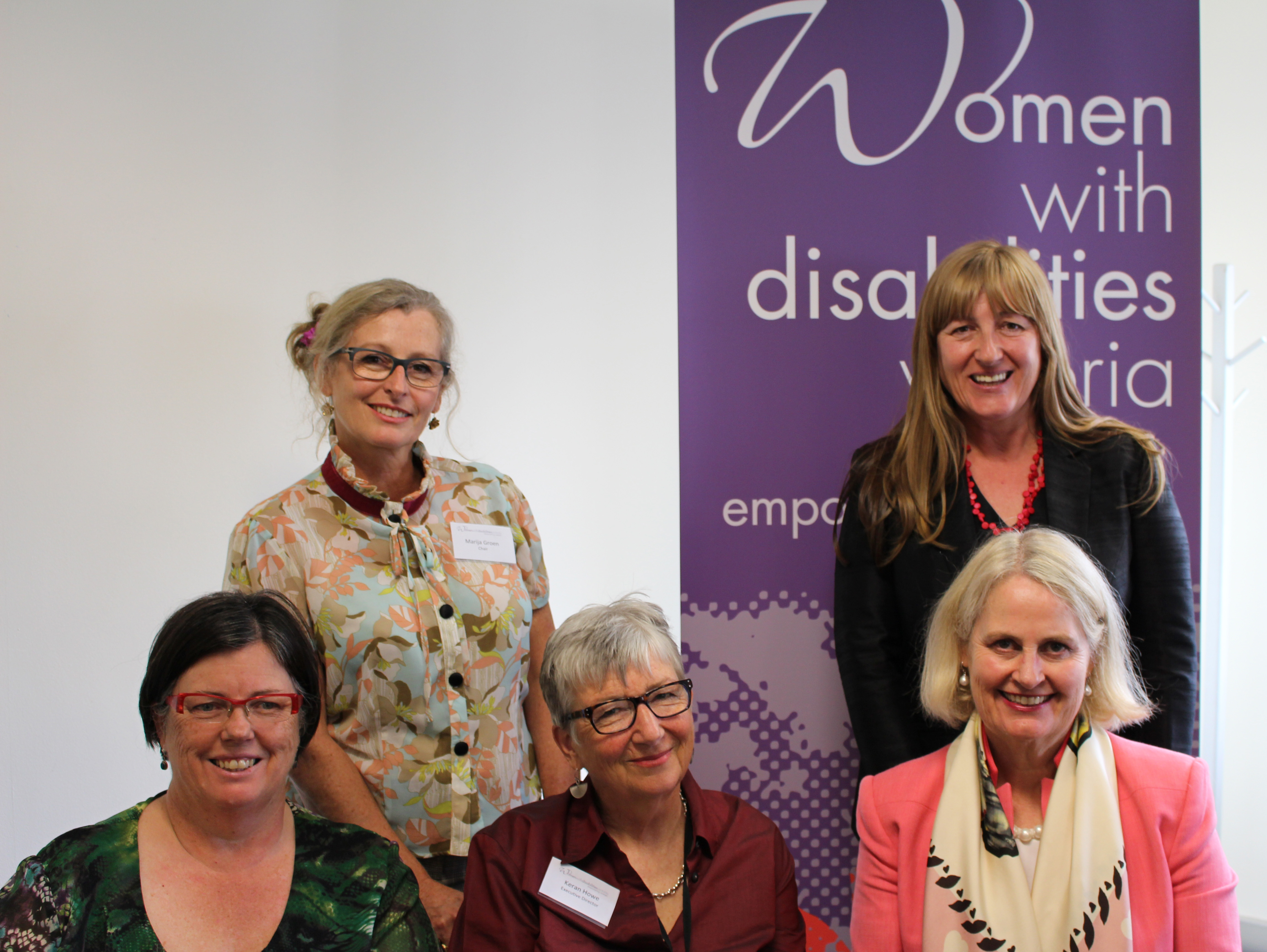 Image of Colleen Hartland, Danielle Green and Andrea Coote with WDV Chair Marija Groen and Keran Howe