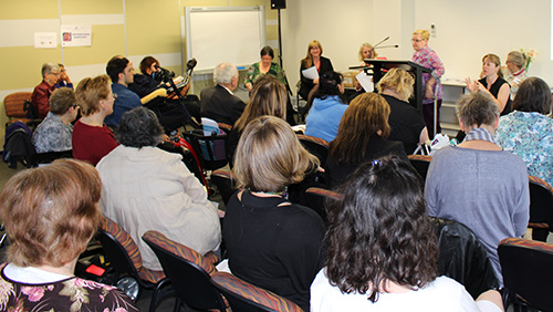 Image of wdv members attending the election forum