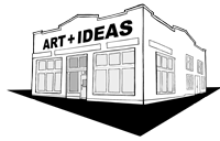 the grocery studios logo - building with ART and IDEAS on the front