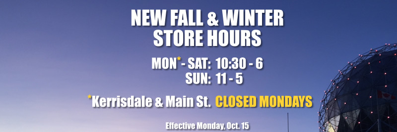 New Fall & Winter Store Hours at West Point Cycles