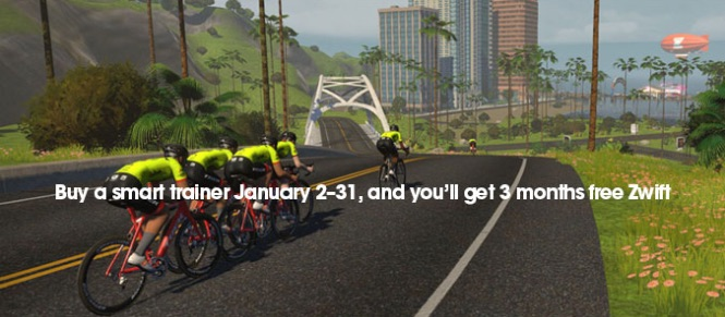 Buy a smart trainer, get free Zwift