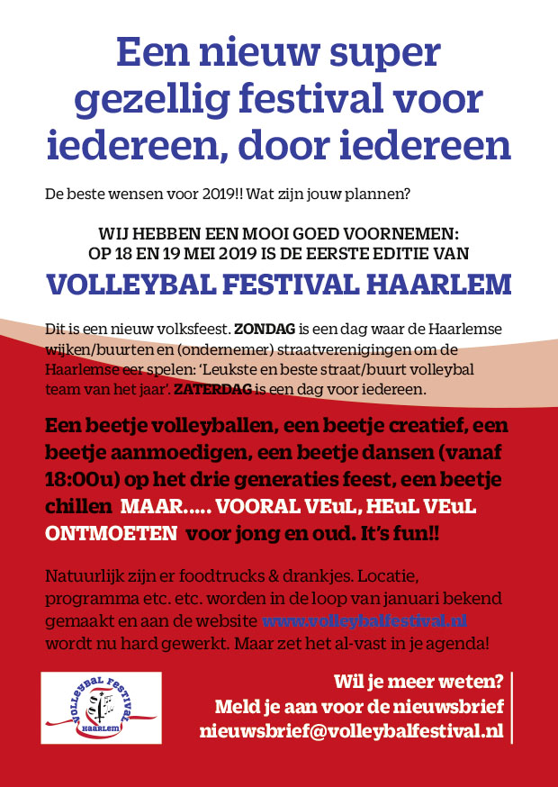 flyer volleybal festival haarlem
