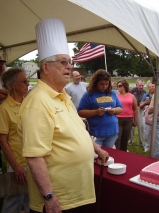 Ernie Edwards was never without his signature chef's hat.