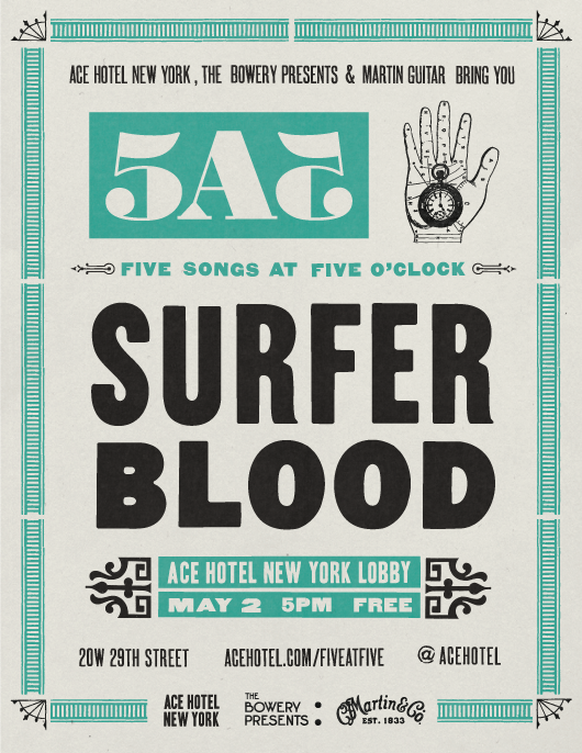 5 At 5 : Surfer Blood