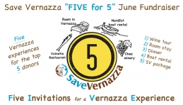 """Save Vernazza """"Five for 5"""" June Fundraiser"""