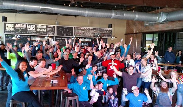 @charlottesgotalot! Including great beer, awesome food, and wonderful communities who come together! (These are all of our creek clean up volunteers!)