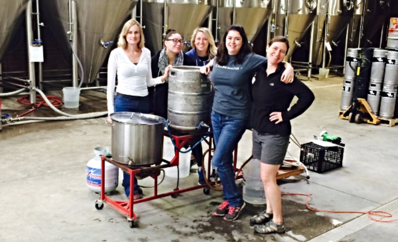 Chandra, MDLP, Jenny, JP, Tara, and Lisa (not pictured) made a beer! Try it tomorrow!