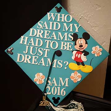 Mickey Mouse Grad Cap
