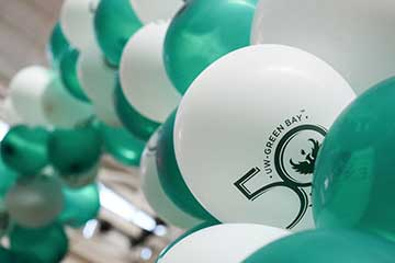 50 and Forward Celebration balloon arch